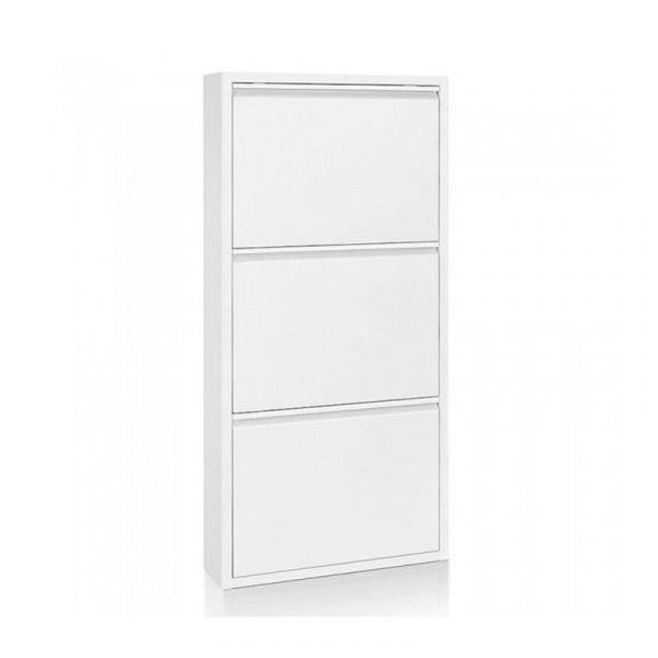 Zapatero 15 Metal Blanco 3 Puertas