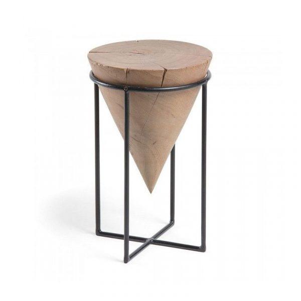 Mesa auxiliar Jayd metal madera acacia