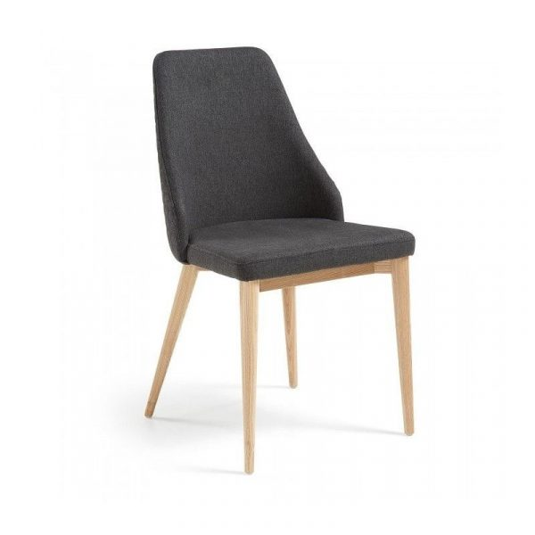 Silla Roxie Madera Tap. Gris Oscuro